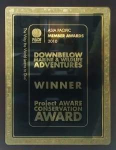 Project AWARE Conservation Award 2010