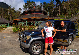 Richard & Joanne with their 4x4 at Mesilau Nature Resort