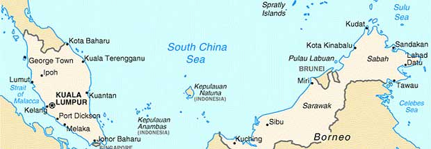 A map of Sabah, Land Below the Wind