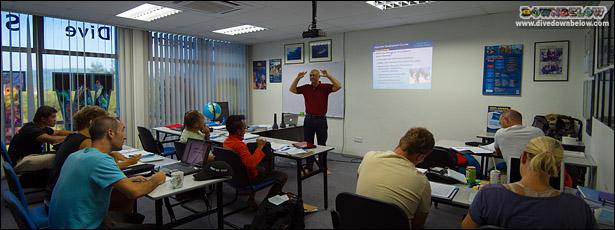PADI IDC Classroom in Borneo