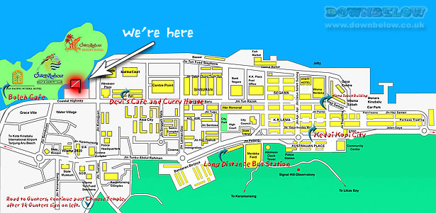 About Kota Kinabalu - A city map for an idea of the general layout of Kota Kinabalu.