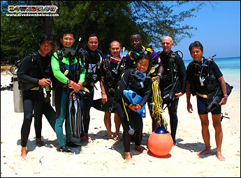 Downbelow's IDC candidates come from far and wide to become PADI Professionals in Kota Kinabalu