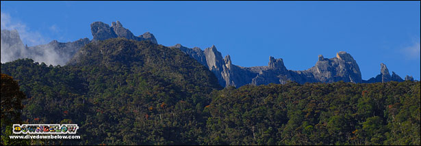 Distinctive peaks and pinnacles of Mount Kinabalu (mt kinabalu)