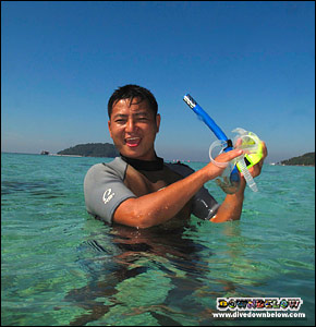 Snorkeling with Downbelow is fun