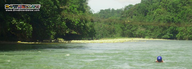 A quiet section of the Kiulu River, ideally for Body Rafting during White Water Rafting