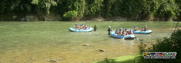 The End Point of White Water Rafting on the Kiulu River