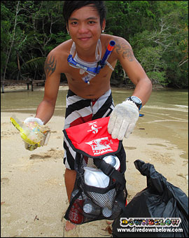 Downbelow staff regularly conduct cleanups along the beach (conservation, roy, cleaning, rubbish)