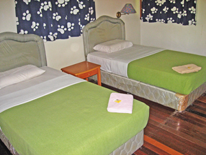 Twin bed room on Selingan Turtle Island