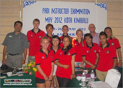 Downbelow Borneo PADI IDC Candidates