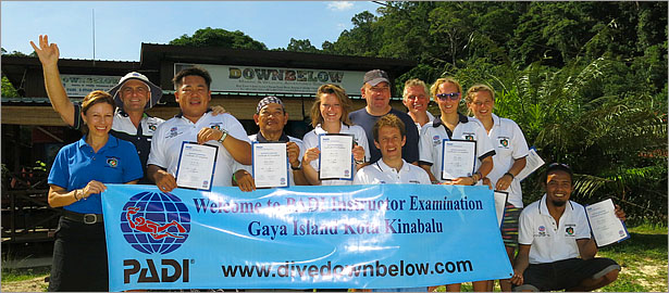 Successful PADI Instructors Examination (IE) candidates