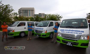 From left to right: Anton, David and Humphrey - Downbelow dedicated drivers - manning the fleet
