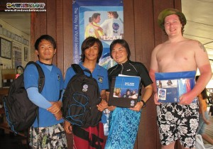 Wellson, Tim, Kiko and Jan at our Gaya Island Dive Centre