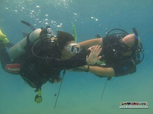 Master Dive Instructor Richard conducting a CESA (Controlled Emergency Swimming Ascent) workshop