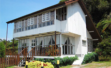 The luxurious Garden Lodge in Kinabalu Park at at the foot of Mt. Kinabalu