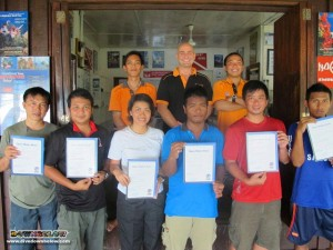 Downbelow Instructors in the back, Sabah Parks students in the front - qualified!