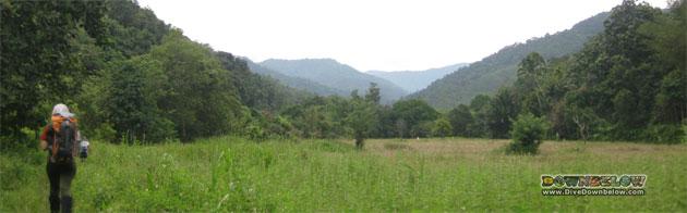 Padi Fields on the Salt Trail Jungle trek across the Crocker Range mountains
