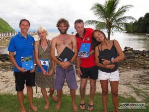 Professional Diving Interns on Gaya Island, Kota Kinabalu, Sabah