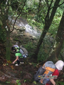 Salt Trail - Jungle Trekking the Crocker Range - Slope to the river