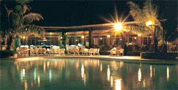 Layang Layang Island Resort Pool at Night