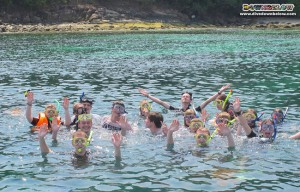 Scottish Adventure Group via World Challenge did guided snorkeling with us on Gaya Island
