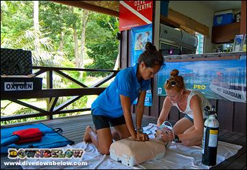 PADI Emergency Oxygen Provider Course in Kota Kinabalu, Sabah, Borneo