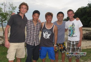 Takeshi (second from left) with fellow professional interns Neil, Roy, Weijia and Paul