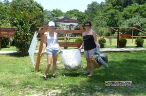 Downbelow's Marketing Director Joanne and her parents also helped with the cleanup