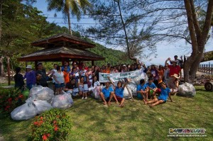 Project AWARE Sep 2011 Participants with some of the collected trash