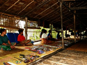 The traditional life inside the Rungus Longhouse