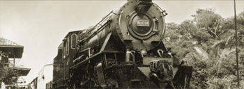 The Vulcan Steam Locomotive that powers the North Borneo Railway