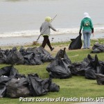 Lots of trash during the UiTM Save Our Beach 2011 cleanup campaign