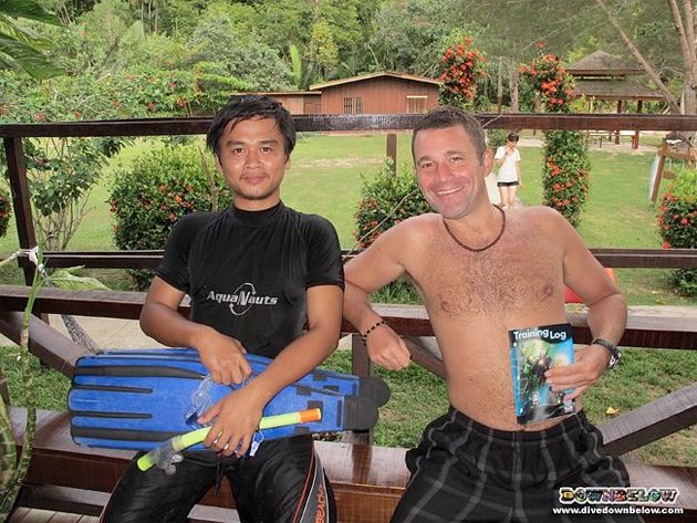 Local Divemaster Intern Hillary with International Divemaster Paul