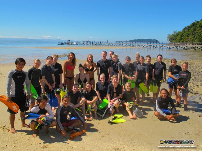 The February / March group of adventurers from Denmark arrives in Kota Kinabalu, Sabah, Borneo
