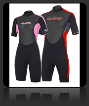 Bare Attack Shorty - 2mm Warm Water Wet Suit