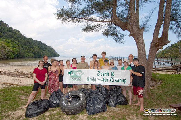 University of Glamorgan, Wave 2, with the spoils of their beach cleanup effort