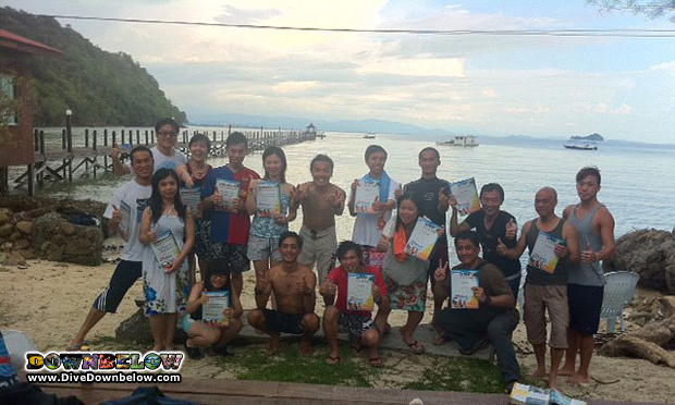 The group from Hong Kong who joined Downbelow for some Discover Scuba Diving action