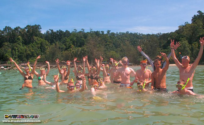 The next Borneo Adventure group is in the house at Downbelow's Gaya Island dive centre