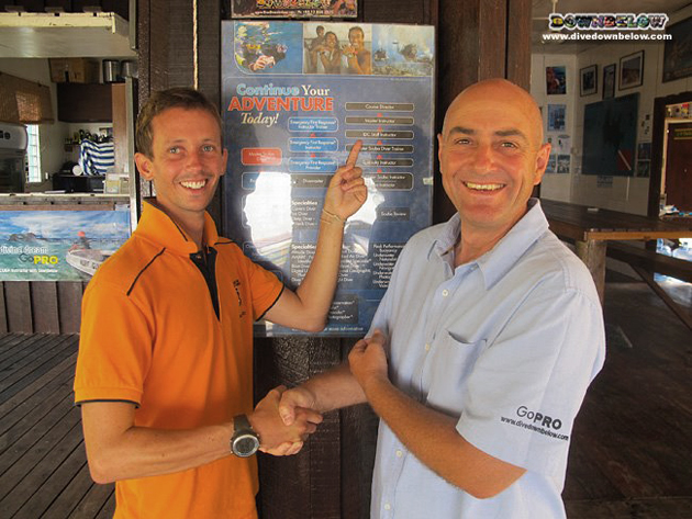IDC Staff Instructor Paul with resident PADI Course Director Richard