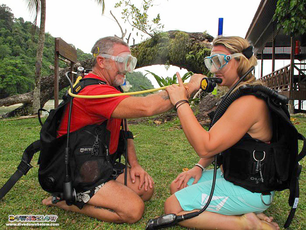 Brian and Melissa now professional PADI Divemasters