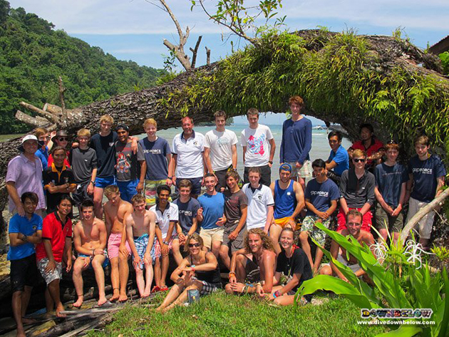 The last of the Gap Year group photographed on Gaya island this weekend