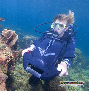 Look cool in the water with our DPV