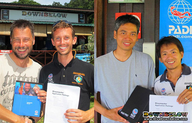 New divemasters from Downbelow Borneo
