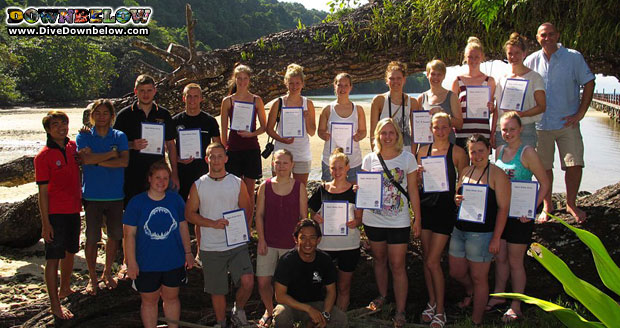 danish young adventurers complete PADI Open Water Course in Gaya Island, Borneo
