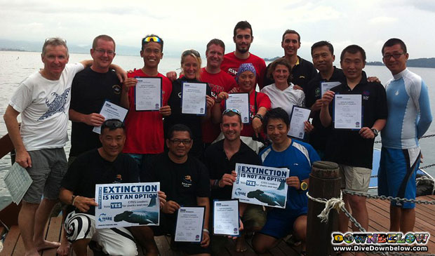 downbelow-hosted-padi-ie-exam-borneo