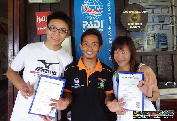 qualified divers from borneo