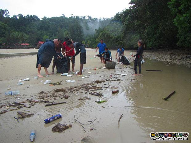 rain wont stop beach cleanup