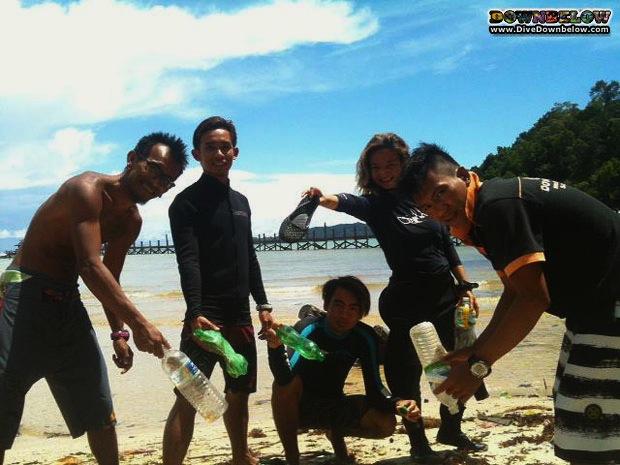 gaya island cleanup