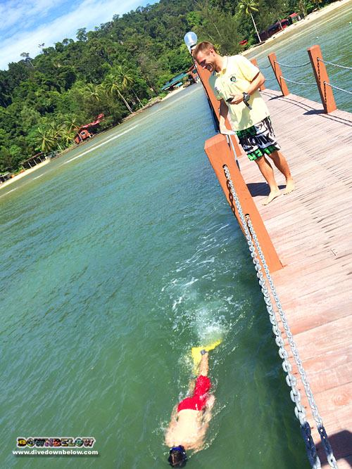 Divemaster interns stamina test