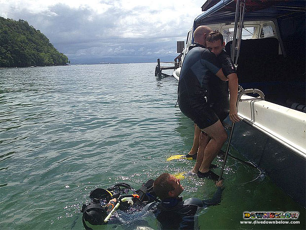 dive rescue in action