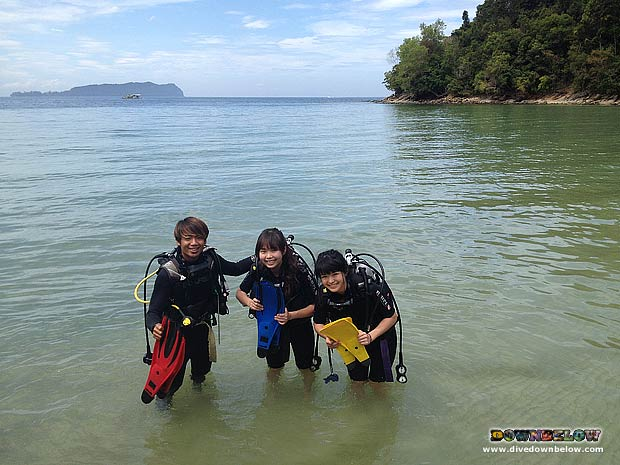 Japanese Guests Discover Scuba